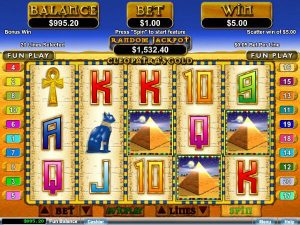 Screenshot image of Cleopatra´s Gold slot progressive Jackpot