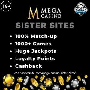 Mega Casino Sister Sites banner