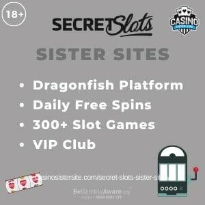 Secret Slots Sister Sites banner