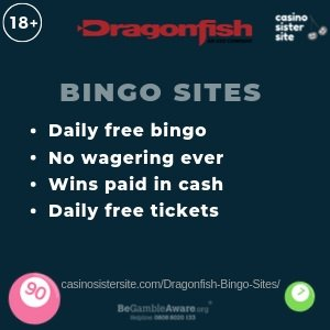 Dragonfish Bingo Sites - 11 Dragonfish bingo sites with free bingo. 1