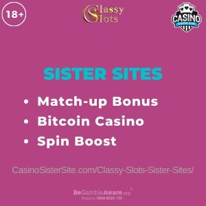 Classy Slots sister sites - 8 Bitcoin casinos with Spin Boost & welcome bonus. 1