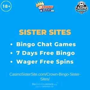Crown Bingo Sister Sites - Wager free spins, bingo chats & free bingo. 1