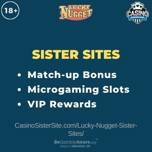 Lucky Nugget sister sites - List with 50 spins no deposit. 1