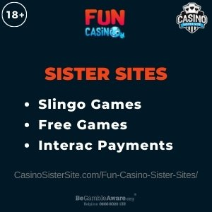 Fun Casino sister sites with 10% cashback + 99 free spins. 15